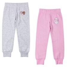 Nuovo Ragazza Sport Pantaloni Tuta Frozen Rosa Grigio Aspetto Satinato 98 - 140#