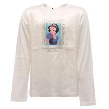 2057S maglia bimba DOLCE & GABBANA SNOW WHITE cotone/seta t-shirt kid