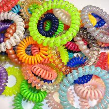 Haargummi Spirale Telefonkabel Haarschmuck Farben und Mustern sortiert 6 Stück