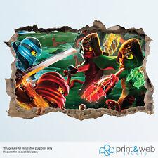Ninjago Movie Kids Wall Smash Decal Sticker Bedroom Vinyl Mural Art