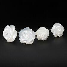 Ohrstecker Rose echt Sterling Silber 925 Perlmutt Blume Ohrringe Damen Mädchen
