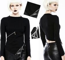 Haut top transformable gothique punk lolita zippé asymétrique mitaines Punkrave