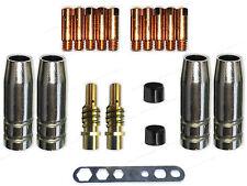 Verschleissteile Set SB 15  SB15/150 Gasdüse, Düsenstock MIG/MAG  0,8 Stromdüsen