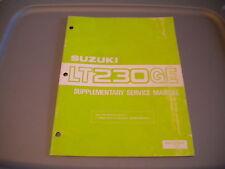 Suzuki 1986 LT230 GEG LT230GEG LT230GE Service Manual Supplement 99501-42010-01E