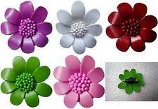 Brosche Blume Blüte Ansteckblume Echt Leder Schmuck Lederblume handmade Ansteck