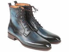 Paul Parkman Handmade Men's Blue & Brown Leather Boots (ID#BT548AW)