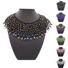 Lady Statement Boho Beads Pendant Necklace Tribal Bib Choker Collar Cape Jewelry