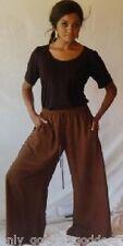 brown palazzo pants split skirt gaucho ONE SIZE-M L XL 1X 2X 3X 4X 5X 6X PLUS
