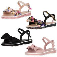 37e38cb5fed New Womens Open Toe Oversize Bow Ankle Strap Mary Jane Low Flat Heel Sandal  Shoe