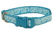 Douglas Paquette TROPICAL MINT Nylon & Ribbon Adjustable Dog Collar, Harness