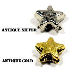 #77 Metal Bali Tibetan Beads Star Antique Gold Antique Silver,Beading Jewellery