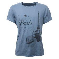 C1432 maglia uomo NO BRAND blu/nero t-shirt men