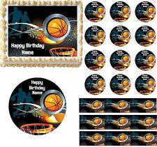 Basketball Sports Edible Cake Topper Image Decoration Basketball Cupcakes Edible