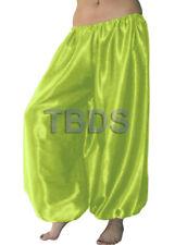 Yellow Green   Satin Harem Yoga Trouser Belly Dance Pant Pantalons Boho  27Color