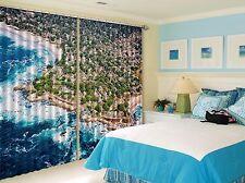 3D Halmet Ocean Blockout Photo Curtain Printing Curtains Drapes Fabric Window AU