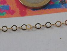10cm catena arg925 placcata oro anellini piattina silver chain  chaîne en argent