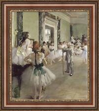 "Edgar Degas The Ballet Class Framed Canvas Giclee Print 24""x27"" (V15-23)"