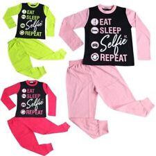 Infantil Pijama Niño Diseñador Eat Sleep Selfie Repetir Ropa de Descanso 2-13