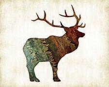Elk Watercolor Art Print by Dan Morris, option to mount print, ©Dan Morris