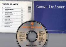 FABRIZIO DE ANDRE CD same BLU made in ITALY 1A STAMPA  Ricordi TIMBRO SIAE