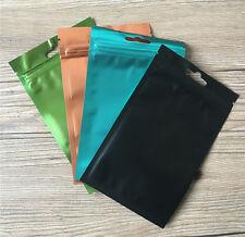 4 Colors Resealable Aluminum Foil Bags Zip Lock Mylar Food Storage Pouches
