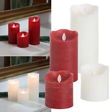 "LED Echtwachs-Kerze ""GLOW"" glimmend mit TIMER Wachs-Struktur flackernd Kerzen"