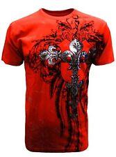 Konflic [Fleur De Lis] T-Shirt MMA UFC BIKER harley ROCKER Foil Biker Skulls KO