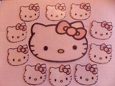 Grande de color rosa Hello Kitty Comestible Cake Toppers Para cakes/cupcakes