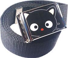 Chococat Black Belt Buckle Bottle Opener Adjustable Web Belt