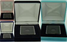 Deluxe Velvet QUADRUM capsula portamonete di visualizzazione Presentation Case Baby Rosa Blu