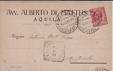#AQUILA: testatina- Avv. ALBERTO DE MATTEIS