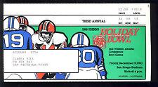 1980 Holiday Bowl Ticket SMU vs BYU Miracle Bowl
