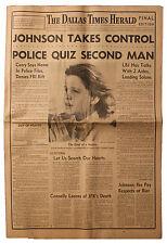 JFK John F. Kennedy Assassination 11/23 Dallas Paper