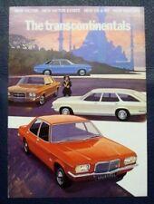 Vauxhall transcontinentals folleto de ventas de 1972.