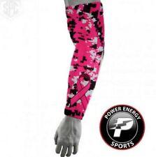Pink Digital Camo Breast Cancer Ribbon Baseball Football Compression Arm Sleeve
