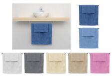 Coppia asciugamani set 1+1 spugna tinta unita asciugamano viso ospite mod.ALEXA