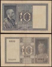 "10 LIRE IMPERIALE 1938 ""RARA"""