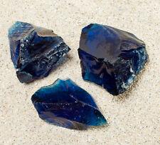 Gartendekoration Glasbrocken Glasstein dunkelblau,  Glass stone dark blue 40-120