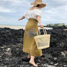 Women Straw Woven Bags Hollow Out Handbag Rattan Beach Basket Shopping Handmade