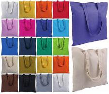 shopper in cotone 130 gr/mq borsa della spesa 17 colori 38 x 42 cm manici 70 cm