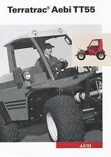 Aebi Terratrac TT55 Geräteträger Prospekt 6/03 brochure Broschüre 2003 Schweiz