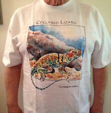 Unique Wildlife T-Shirt Collared Lizard (Crotaphytus Collaris) 100% Cotton