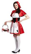 Rotkäppchen Kostüm mit Cape Karneval Fasching Damenkostüm , (K)