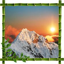 Adesivo parete decocrazione inganna l'occhio Montagna Fiori ref 927