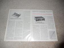 New listing Thorens Td 115c Turntable Review, 1979, 2 pg, Full Test, Specs, Info