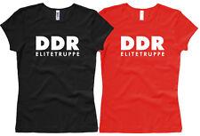 DDR TRUPPA Elite-Maglietta da Donna/Girl/Woman, Tg. XS Fino A XL
