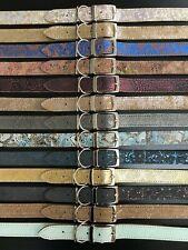 13 Colours LARGE Real Leather Dog Collars - Bassett, Golden Retriever, Husky