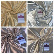 "Plain Metallic Textured Foil Lame Dress Craft Fabric 45"" M755 Mtex"