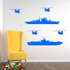ESERCITO MILITARE Battleships barche navi Decalcomania In Vinile ARTE C Adesivo murale Decor A179