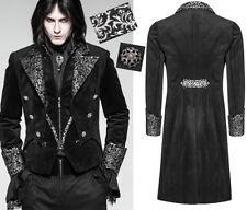 Manteau veste queue-de-pie gothique dandy baroque jacquard argent Punkrave homme